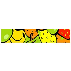 Digitally Created Funky Fruit Wallpaper Flano Scarf (small) by Nexatart