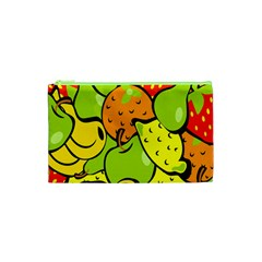 Digitally Created Funky Fruit Wallpaper Cosmetic Bag (xs) by Nexatart