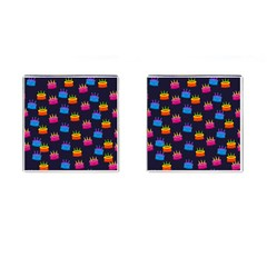 A Tilable Birthday Cake Party Background Cufflinks (square) by Nexatart