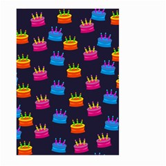 A Tilable Birthday Cake Party Background Large Garden Flag (Two Sides)
