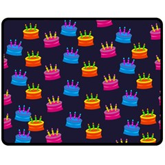 A Tilable Birthday Cake Party Background Double Sided Fleece Blanket (medium)  by Nexatart