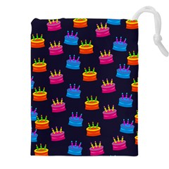 A Tilable Birthday Cake Party Background Drawstring Pouches (xxl) by Nexatart
