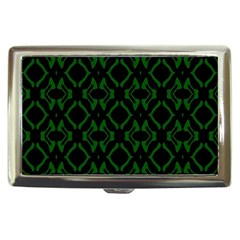 Green Black Pattern Abstract Cigarette Money Cases by Nexatart