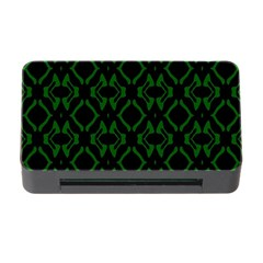 Green Black Pattern Abstract Memory Card Reader With Cf by Nexatart