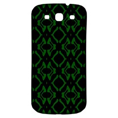 Green Black Pattern Abstract Samsung Galaxy S3 S Iii Classic Hardshell Back Case by Nexatart
