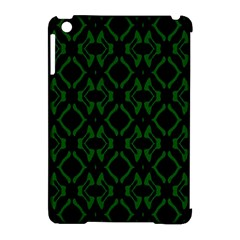 Green Black Pattern Abstract Apple Ipad Mini Hardshell Case (compatible With Smart Cover) by Nexatart