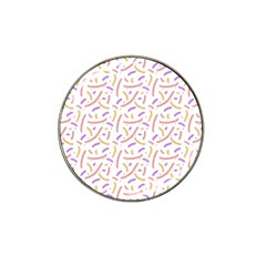 Confetti Background Pink Purple Yellow On White Background Hat Clip Ball Marker (4 Pack) by Nexatart