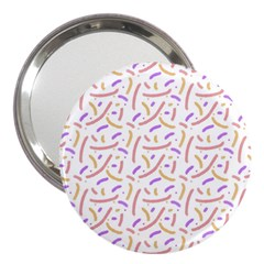 Confetti Background Pink Purple Yellow On White Background 3  Handbag Mirrors by Nexatart