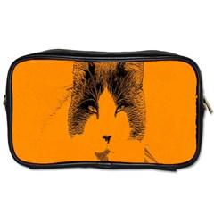 Cat Graphic Art Toiletries Bags by Nexatart