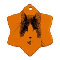 Cat Graphic Art Ornament (snowflake) by Nexatart