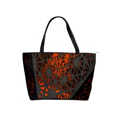 Abstract Lighted Wallpaper Of A Metal Starburst Grid With Orange Back Lighting Shoulder Handbags by Nexatart