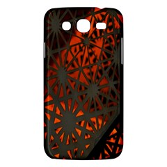 Abstract Lighted Wallpaper Of A Metal Starburst Grid With Orange Back Lighting Samsung Galaxy Mega 5 8 I9152 Hardshell Case  by Nexatart