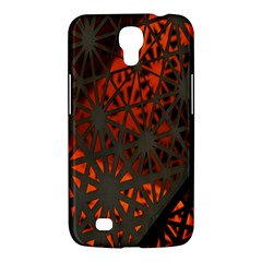 Abstract Lighted Wallpaper Of A Metal Starburst Grid With Orange Back Lighting Samsung Galaxy Mega 6 3  I9200 Hardshell Case by Nexatart