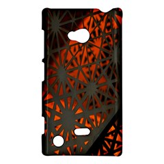 Abstract Lighted Wallpaper Of A Metal Starburst Grid With Orange Back Lighting Nokia Lumia 720 by Nexatart