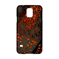 Abstract Lighted Wallpaper Of A Metal Starburst Grid With Orange Back Lighting Samsung Galaxy S5 Hardshell Case  by Nexatart