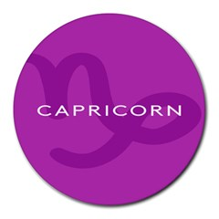 Zodiac Capricorn Purple Round Mousepads by Mariart