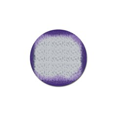 Purple Square Frame With Mosaic Pattern Golf Ball Marker (4 Pack) by Nexatart