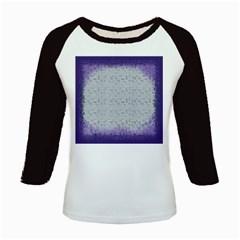 Purple Square Frame With Mosaic Pattern Kids Baseball Jerseys by Nexatart