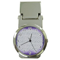 Purple Square Frame With Mosaic Pattern Money Clip Watches by Nexatart