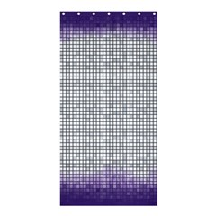 Purple Square Frame With Mosaic Pattern Shower Curtain 36  X 72  (stall)  by Nexatart