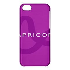 Zodiac Capricorn Purple Apple Iphone 5c Hardshell Case by Mariart