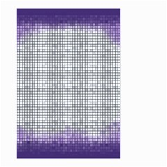 Purple Square Frame With Mosaic Pattern Small Garden Flag (two Sides) by Nexatart