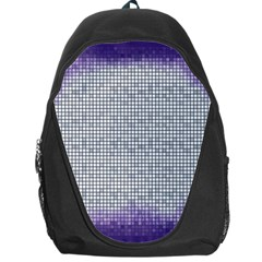 Purple Square Frame With Mosaic Pattern Backpack Bag by Nexatart