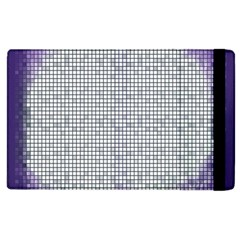 Purple Square Frame With Mosaic Pattern Apple Ipad 3/4 Flip Case