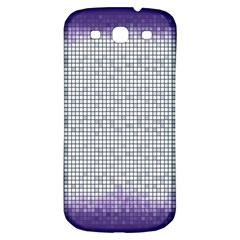 Purple Square Frame With Mosaic Pattern Samsung Galaxy S3 S Iii Classic Hardshell Back Case by Nexatart