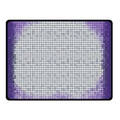 Purple Square Frame With Mosaic Pattern Double Sided Fleece Blanket (Small)  by Nexatart