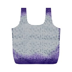Purple Square Frame With Mosaic Pattern Full Print Recycle Bags (m)  by Nexatart