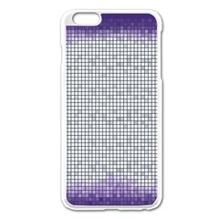 Purple Square Frame With Mosaic Pattern Apple Iphone 6 Plus/6s Plus Enamel White Case by Nexatart