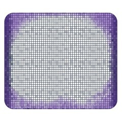 Purple Square Frame With Mosaic Pattern Double Sided Flano Blanket (small)  by Nexatart
