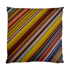 Colourful Lines Standard Cushion Case (two Sides) by Nexatart