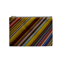 Colourful Lines Cosmetic Bag (medium)  by Nexatart