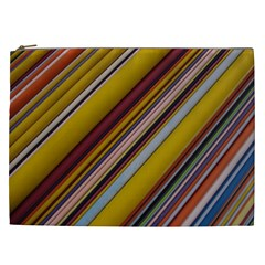 Colourful Lines Cosmetic Bag (xxl)  by Nexatart