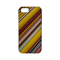 Colourful Lines Apple Iphone 5 Classic Hardshell Case (pc+silicone) by Nexatart