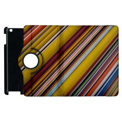 Colourful Lines Apple Ipad 2 Flip 360 Case by Nexatart