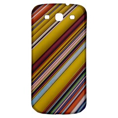 Colourful Lines Samsung Galaxy S3 S Iii Classic Hardshell Back Case by Nexatart