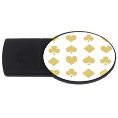 Card Symbols Usb Flash Drive Oval (4 Gb) by Mariart