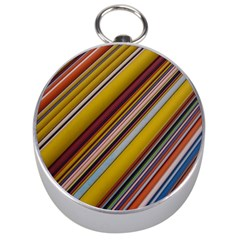 Colourful Lines Silver Compasses by Nexatart