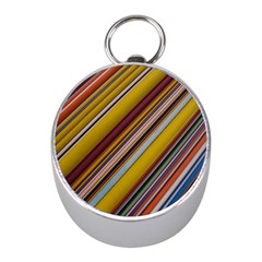 Colourful Lines Mini Silver Compasses by Nexatart