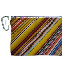 Colourful Lines Canvas Cosmetic Bag (xl) by Nexatart