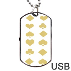 Card Symbols Dog Tag Usb Flash (two Sides) by Mariart