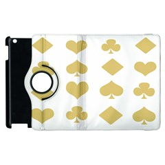 Card Symbols Apple Ipad 3/4 Flip 360 Case by Mariart