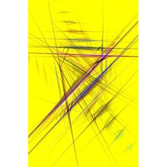 Fractal Color Parallel Lines On Gold Background 5 5  X 8 5  Notebooks by Nexatart