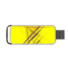 Fractal Color Parallel Lines On Gold Background Portable Usb Flash (two Sides) by Nexatart