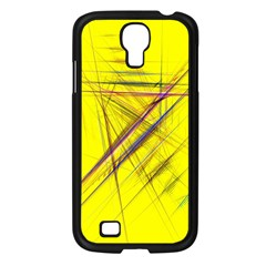 Fractal Color Parallel Lines On Gold Background Samsung Galaxy S4 I9500/ I9505 Case (black) by Nexatart