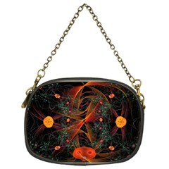 Fractal Wallpaper With Dancing Planets On Black Background Chain Purses (one Side)  by Nexatart