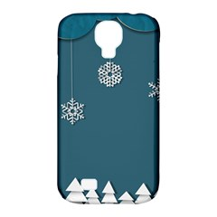 Blue Snowflakes Christmas Trees Samsung Galaxy S4 Classic Hardshell Case (pc+silicone) by Mariart